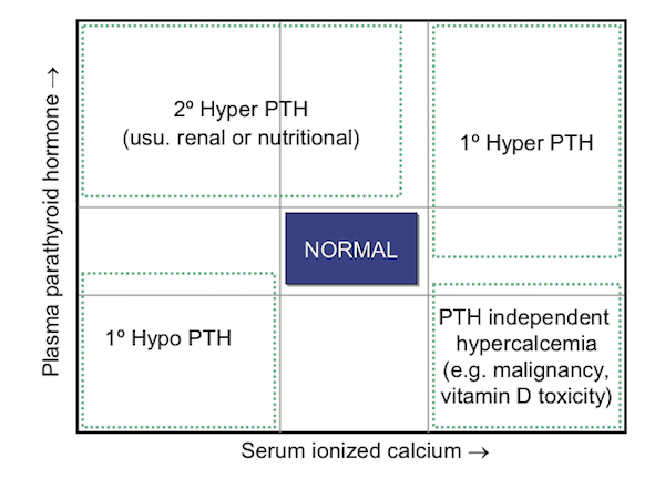 Ionized Calcium Interpretation Chart